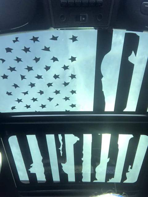 American Flag Sunroof Vinyl Design