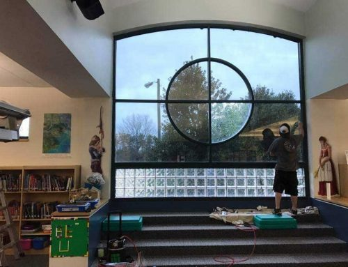 Commercial School Window Tinting – DR15