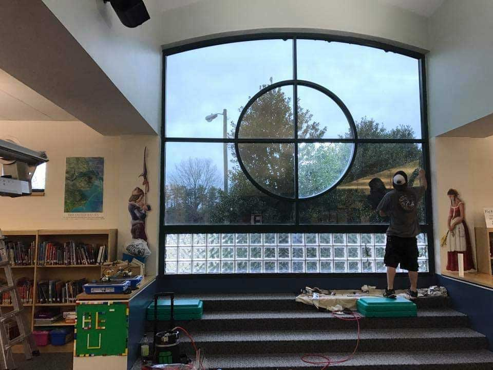 Commercial School Window Tinting